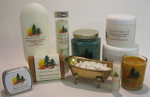 Sunset Pines Naturals Handcrafted Goat Milk Soaps & Lotions, and Soy Candles